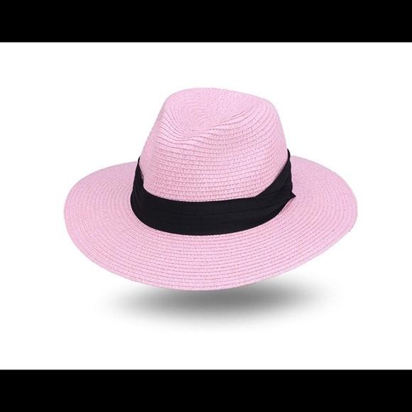 9e41bfeac1d801 Joowen Accessories | Classic Panama Straw Hat In Pink | Poshmark